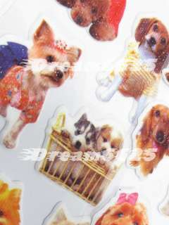 Cartoon stickers dogs pets puppies puppy cute #010