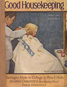 Housekeeping April Jessie Willcox Smith Barber;Helen Keller;A Christie