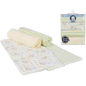 Brand New Gerber Flannel Receiving Blanket, 5 Pack