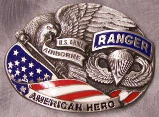 Military Belt Buckle metal Army Airborne Rangers NEW