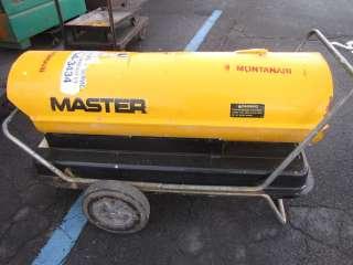 BTU Kerosene torpedo heater Master dual fuel diesel & kerosene