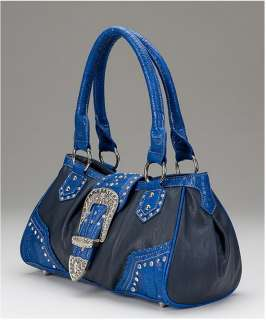 Montana West Country Road Satchel SBK 8230 Blue