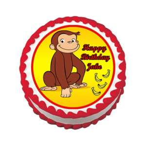 CURIOUS GEORGE Edible Cake Image Party Topper Supply