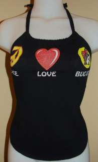 Buc ees Peace Love Beaver Shirt Halter Top DiY