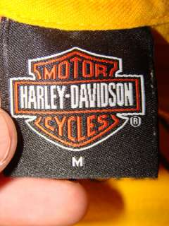 Yellow HARLEY DAVIDSON Walnut Creek, CA T Shirt Sz M Motorcycles