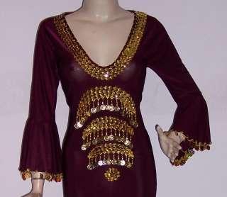 Egyptian Belly Dance Baladi/Saidi Galabeya Dress Costume