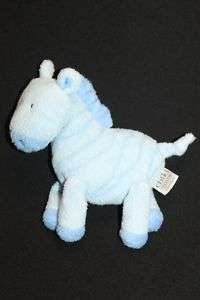 Carters Child Of Mine Blue Zebra Rattle Toy Plush