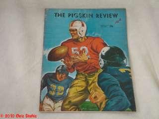 1946 USC Trojans vs Washington Huskies Vintage Football