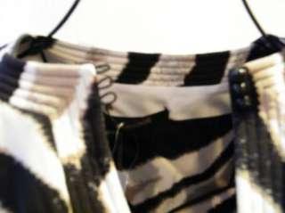 ROBERTO CAVALLI SILK TOP SHIRT zebra ANIMAL PRINT NEW