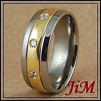 Titanium Wedding Band 14K Gold Ring Engagement Jewelry