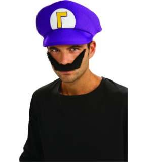 Super Mario Bros. Waluigi Hat & Moustache Kit *New*