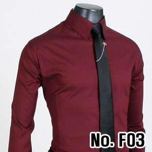 High Quality Wine Classic Fit Mens Dress Shirts US 2XL