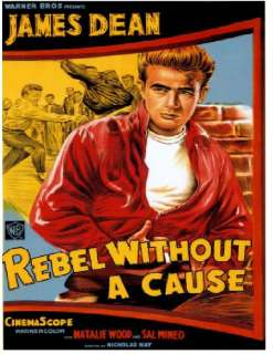 Rebel without a Cause James Dean dvd poster t shirt