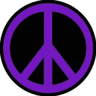 PEACE SIGN PURPLE BLACK ROUND MOUSE PAD NEW COOL FUN