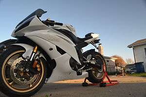 Yamaha R6 decals stickers WHITE with GOLD outline deltabox