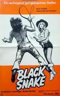 Russ Meyer BLACK SNAKE `73 Plakat ca. A3