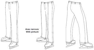 Jalie Mens & Boys Figure Skating Pants Sewing Pattern in 22 Sizes