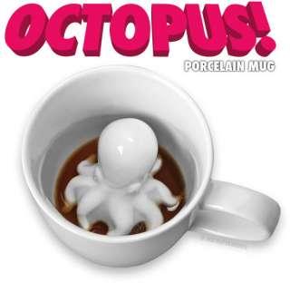 Coffee Mug Kraken Porcelain Collectible Funny Cup Gag Gift Fish