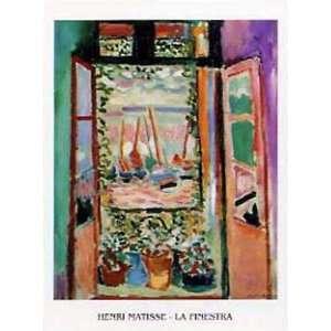 Henri Matisse   La Finestra, Das Fenster II Poster Kunstdruck (80 x