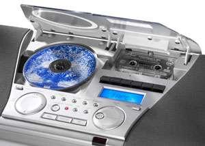 Musik Center MC 6550 spielt CDs und Kassetten ab. Ansicht vergrößern
