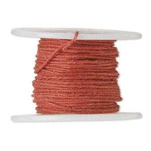 RED 7MM FABRIC COVERED WIRE CRAFT WRAP 21 GAUGE 30ft