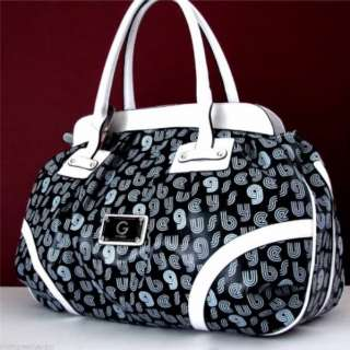Guess By G Logo Black Large Travel Handbag Tote Bag 758193023312