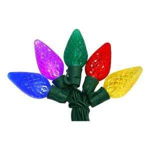 EcoSmart 50 Light Multi Color LED C9 Light Set 703155 at The Home