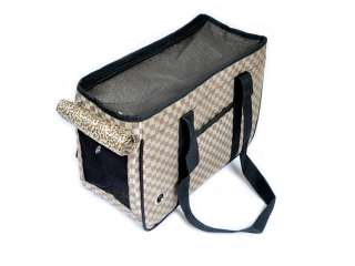 Pet Dog Puppy Carrier Breathable Handbag Checked Bag L