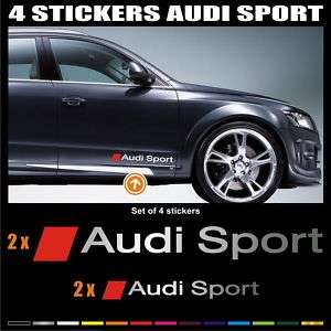 AUDI SPORT sticker decal   Set of 4 stickers   A43