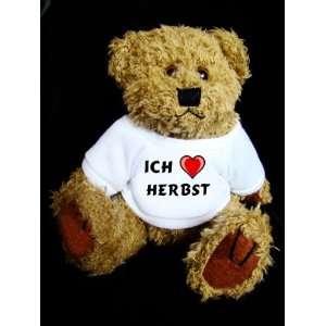 Teddy Bear mit Ich liebe Herbst t shirt  Spielzeug