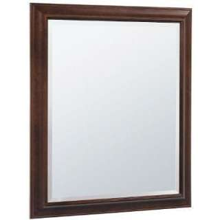 American Classics 35 in. x 29 1/2 in. Framed Wall Mirror in Java Maple
