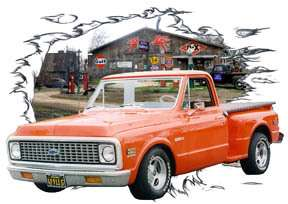 You are bidding on 1 1971 Orange Chevy Pickup Truck Custom Hot Rod