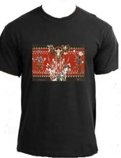 RED KACHINAS Lakota Art Native American Indian t shirt |