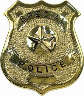Gold Special Custom Police Shield Law Enforcement Badge