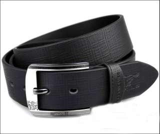 Mens Belt Genuine Leather Wolf Waist30 46 Fashion Black/Brown