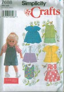 Simplicity American Girl 18 Doll Clothes Sewin Pattern