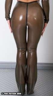 JL Latexhose Schlaghose Gummi Rubber Latex Hose Jeans Hotpants versch