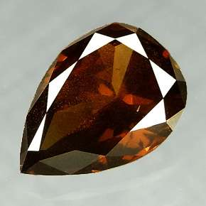 38 Cts Natural Red Wine Color Pear Cut Diamond Africa
