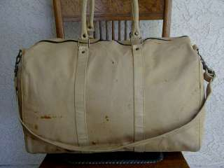 Lg. Vintage RUSTIC Pigskin Leather DUFFLE Carry~On Travel Bag~Luggage