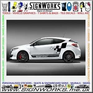 Renault Clio Megane Sport Vinyl Stripes Sticker Kit