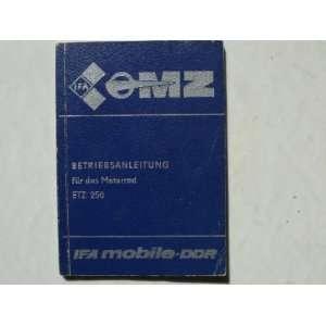 MZ ETZ 250   Betriebsanleitung   Original: .de: keine Angabe