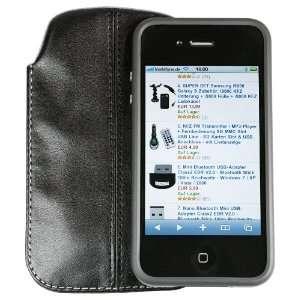 iPhone 4 Leder Tasche BUMPER kompatibel  Elektronik