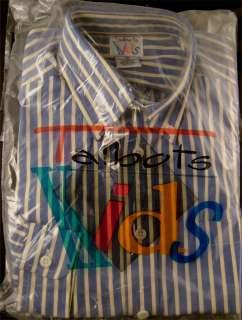 NEW Blue White Yellow Striped Dress Shirt Long Sleeve LS Cotton