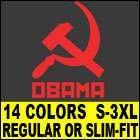 COMMUNIST OBAMA T Shirt MENS barack funny anti vintage