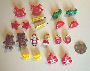 Buttons  Lock Santa & Mrs Claus Pencil Bear Car Clown Moon