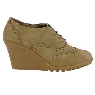 Trendy Schnürer Damen Schuhe 93052 Keilabsatz 36 41