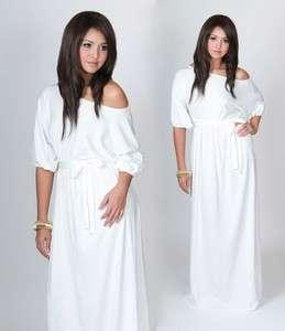 New Womens White Long Cocktail Plus Size Maxi Dress 2X