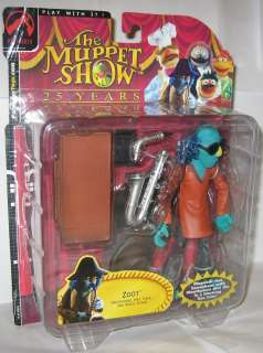 The Muppet Show Zoot Red Shirt Series 3 Palisades Figure MOSC