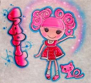 Lalaloopsy Silly Hair Doll Personalized Shirt Airbrush any name