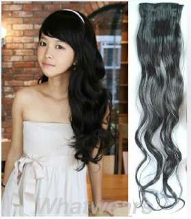 Womens Long Curl/Curly/Wavy Hair Extension Hairpiece 6 Colors 65cm